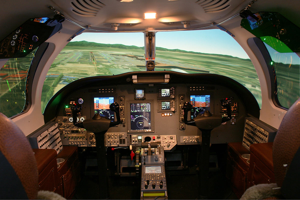 CJ1+ Interior Full Flight Simulator
