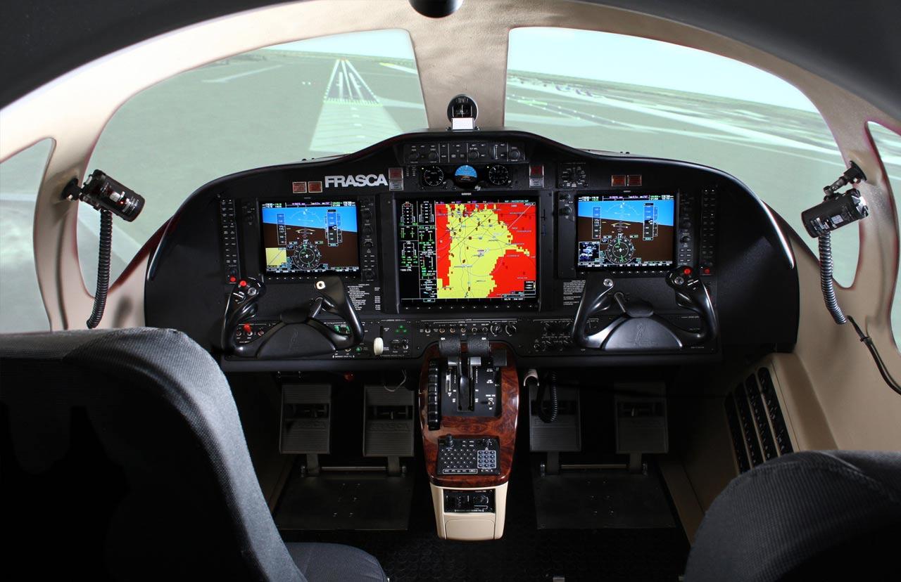 Cessna Citation Mustang Frasca Flight Simulation