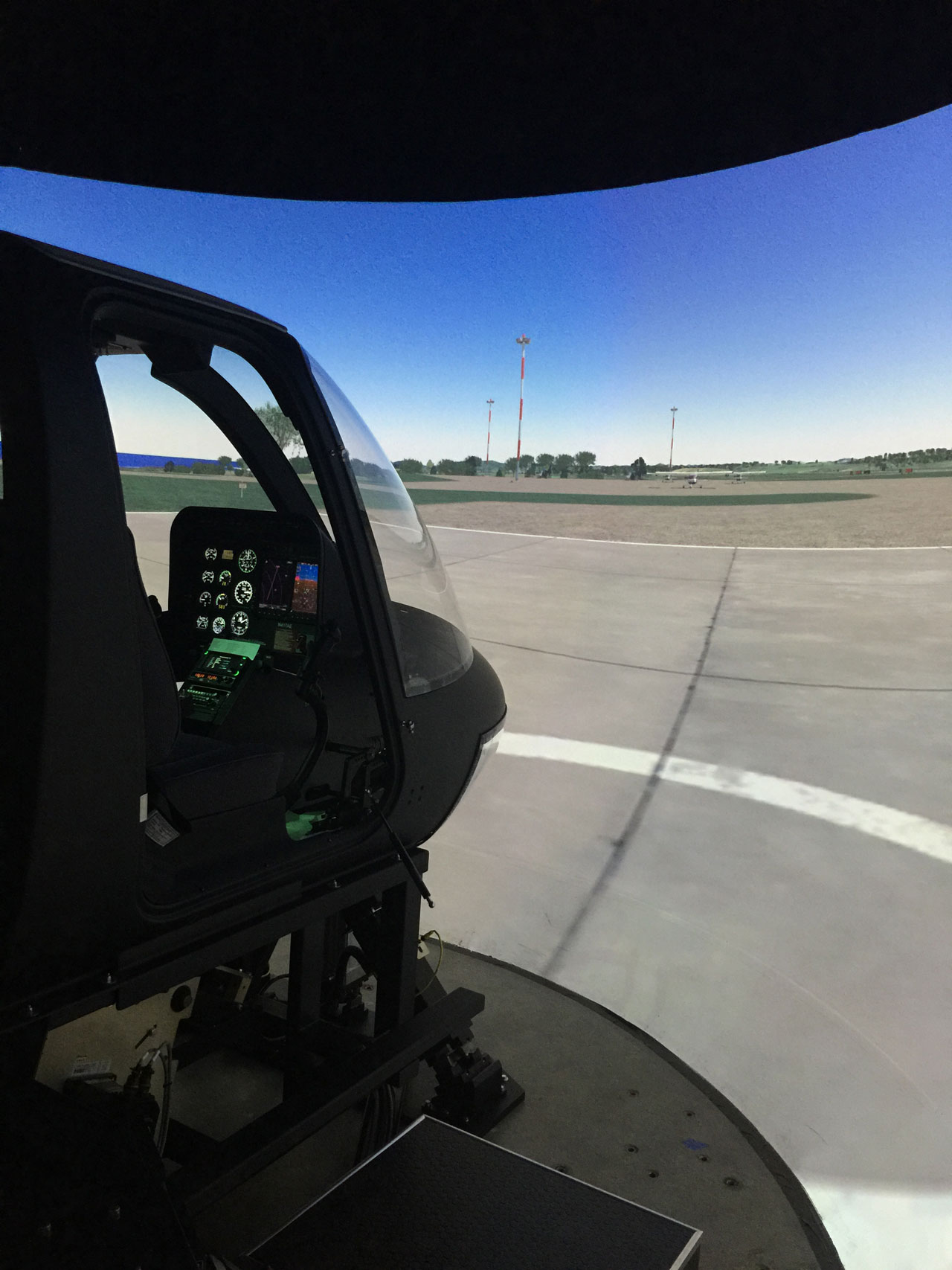Air Evac Bell 206 on Frasca Motion Cueing System