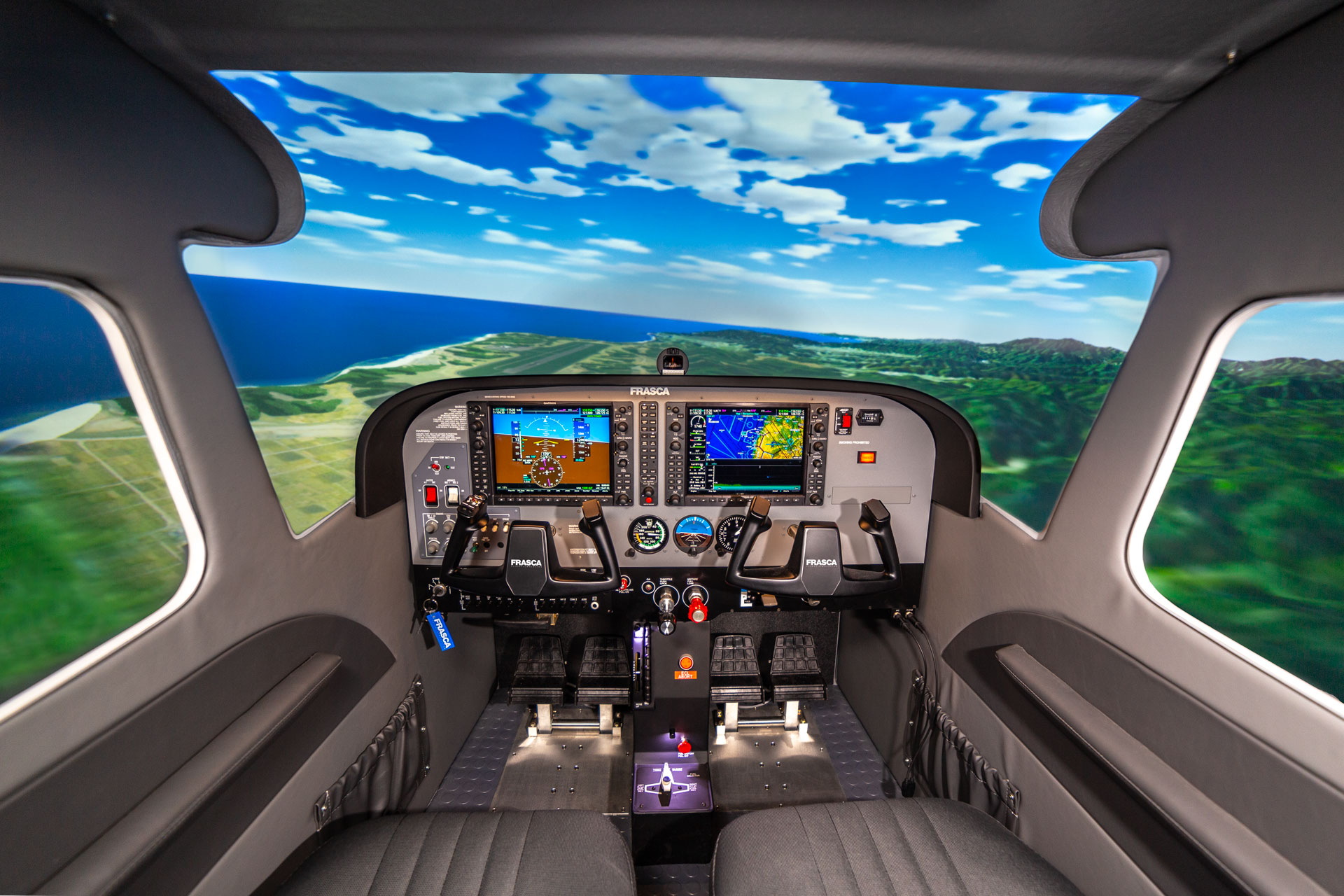 Gambar : Simulasi pesawat terbang