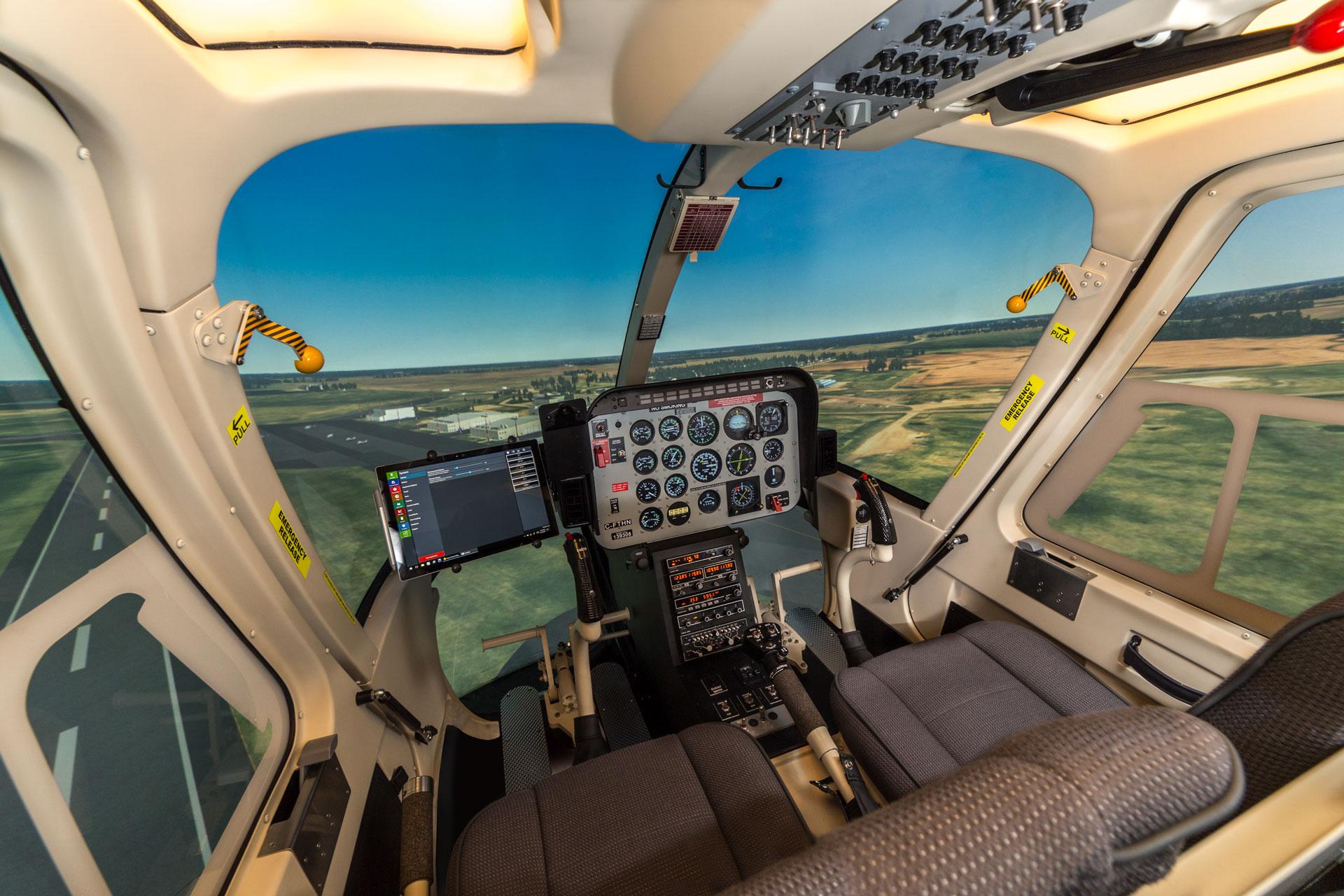 Frasca Bell 206 Flight Simulator Cueing