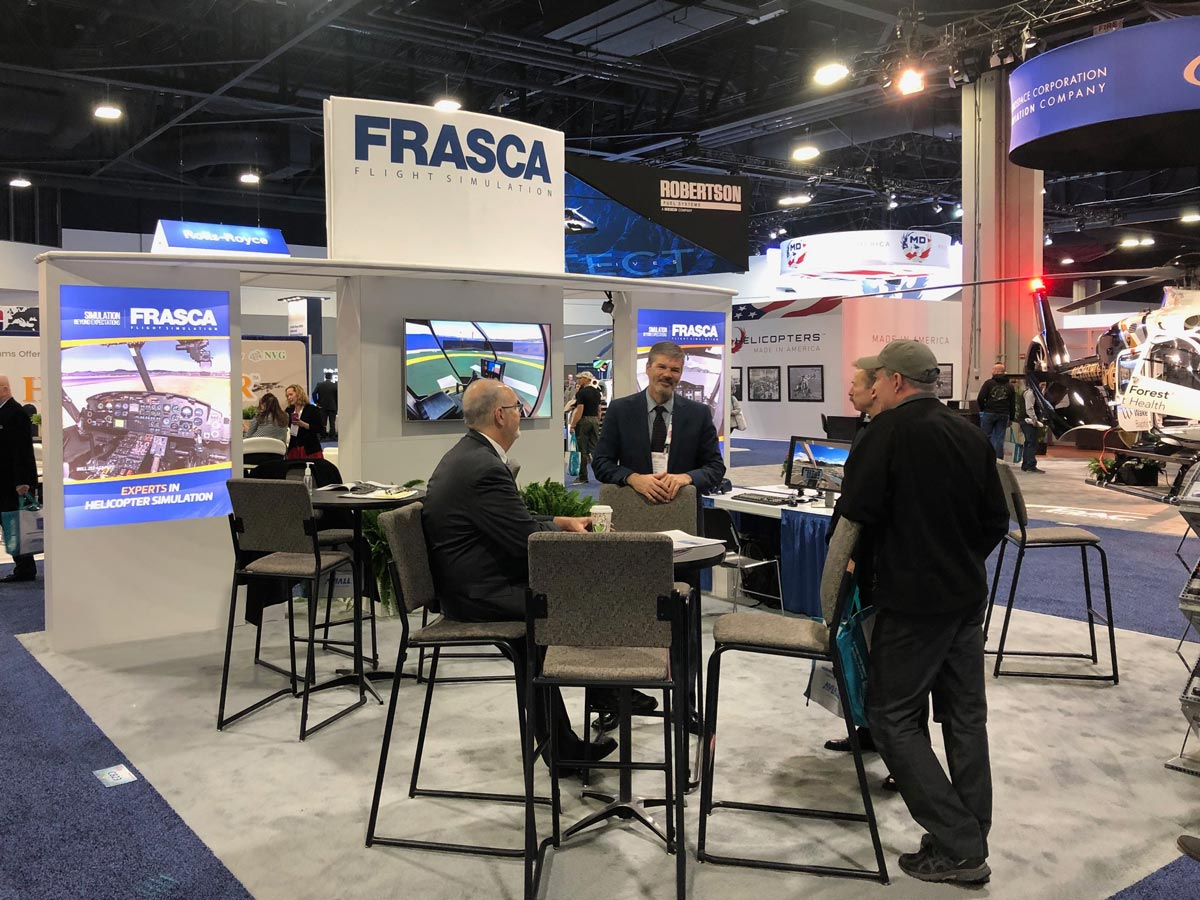 Frasca Booth at HAI Heli Expo 2019