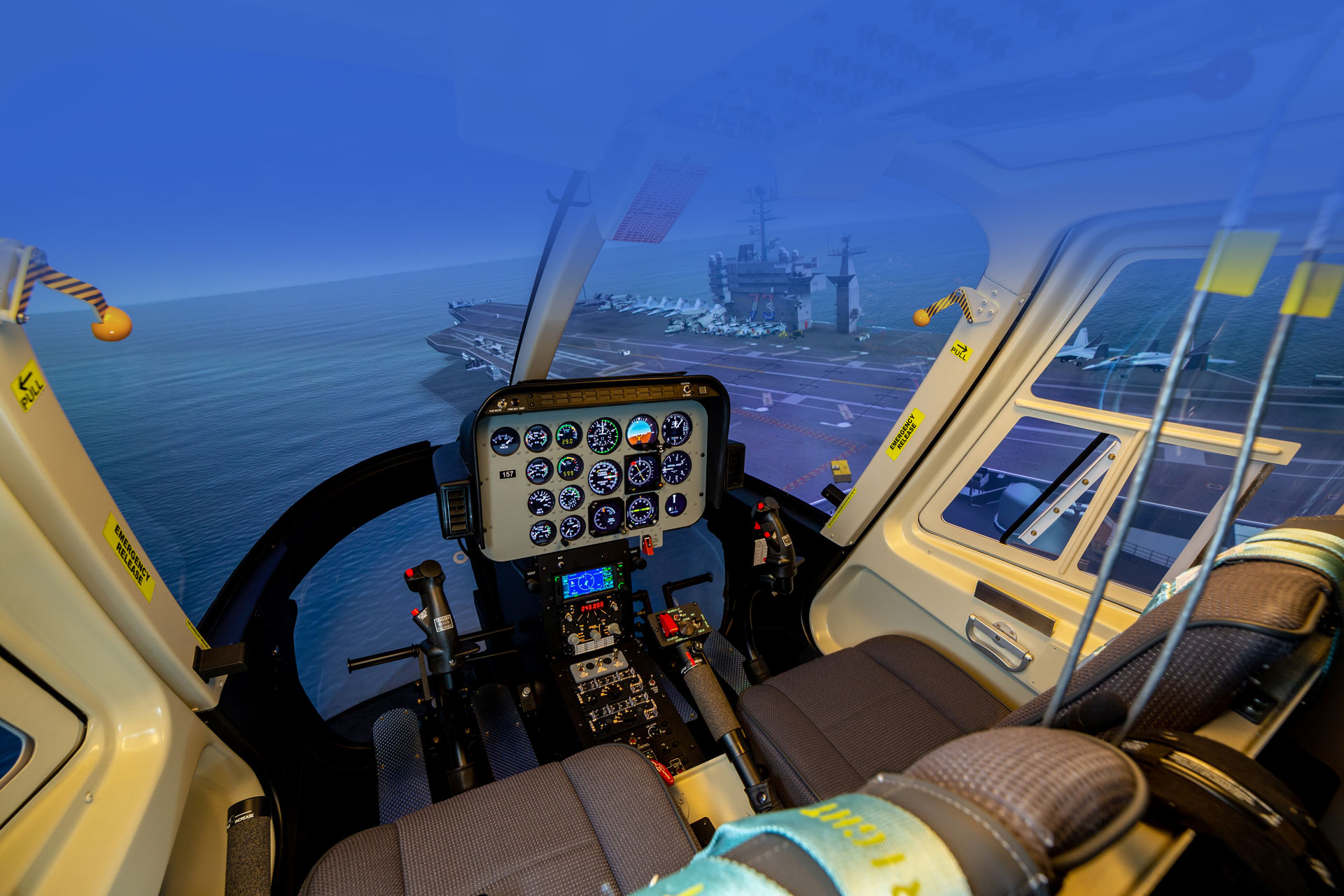 Frasca TH-57 Flight Simulator on Carrier