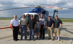Figure 1: The Flight Test Team for a Sikorsky S76C++ test campaign